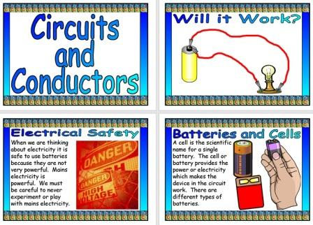 Free Printable Circuits and Conductors Science Display Posters