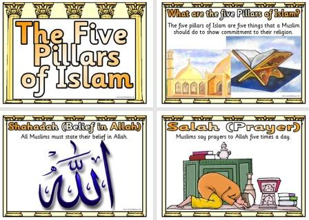 Free Printable Religious Education Posters - 5 Pillars of Islam