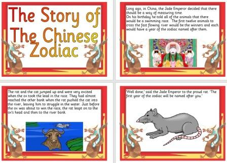 Free Printable Chinese New Year Story of the Zodiac Information Posters