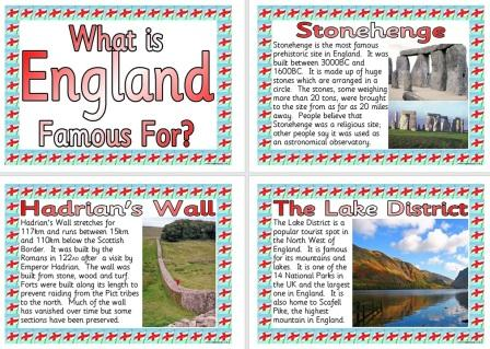 Free Printable What is England Famous For Posters