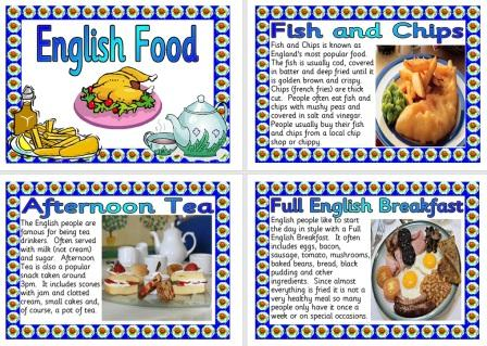Famous English Foods Information Posters Free