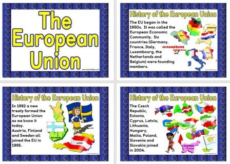 Free set of printable posters about the European Union