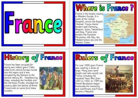 Free Geography Posters France