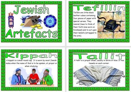 Free Printable Jewish Artefacts Information Posters for Children