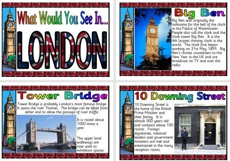 Free printable London Information Posters
