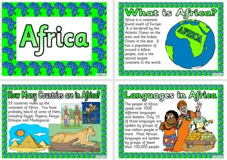 Free Printable Africa Geography Teaching Resource