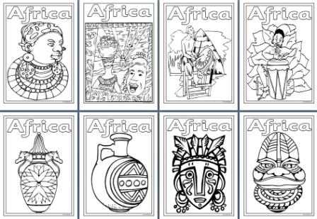 Africa Colouring Pages