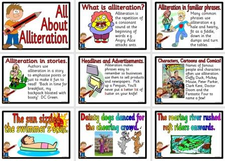 Free printable teaching resource Alliteration Posters
