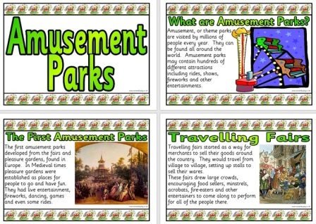 Free Printable History of Amusement Parks Posters for Display
