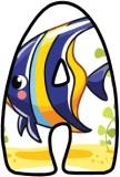 Angel Fish background lettering sets for classroom display.