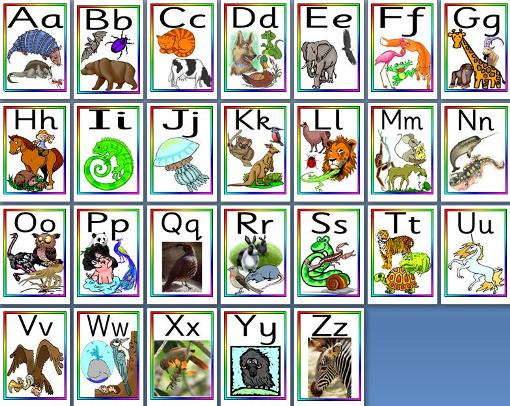 Free printable Animal Alphabet Posters for classroom display teacher resource