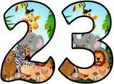 Free printable cartoon African Animals background instant display lettering sets for classroom display.