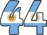 Argentinian Flag background display lettering