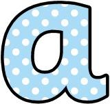 Baby blue with white polka dot background free printable instant display lettering sets for classroom display