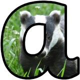 Free printable lowercase badger lettering