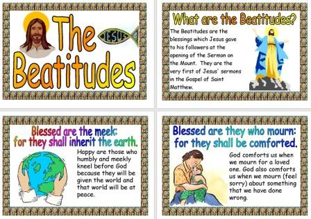 Free Printable The Beatitudes Explained set of Posters