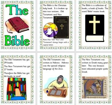 Free Set of Information posters about the Bible Christianity