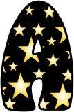 Free display lettering Gold Stars on Black