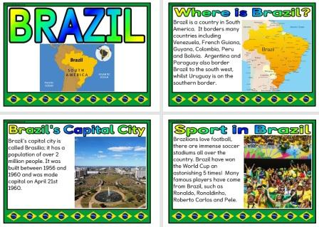 Free printable Geography Information posters about Brazil