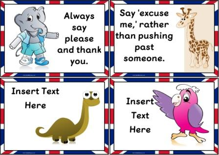 Free Printable British Values, Good Manners Posters for Schools, Homeschooling, Children