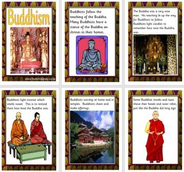 Free Printable Buddhism World Religions Poster Cards