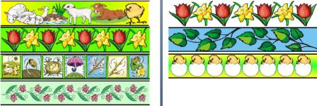 Printable Spring Themed Border Strips for Display Boards