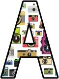 Free printable cameras background instant display lettering sets for classroom bulletin board display, scrapbooking etc.
