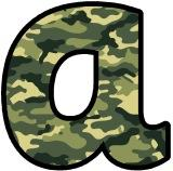 camouflage lettering
