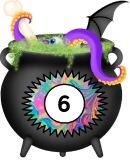 Free printable cauldron for halloween display or part of literacy or numeracy displays.  4 A4 pages.