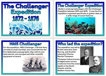 Free Information Posters about the Challenger Expedition
