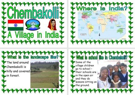 Free printable A Village in India Chembakolli Information Posters