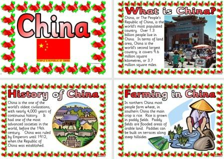 Free Printable China Information Posters Geography Resource