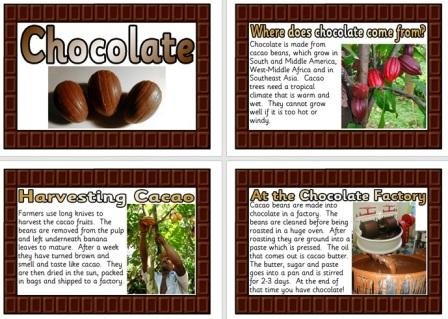 Free Printable Chocolate Posters Information Teaching Resource