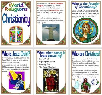 Free Printable Set of Information Posters about Christianity