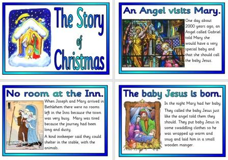 Free Printable Christmas Story Nativity Posters