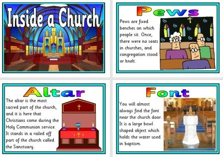 Free Printable Inside a Church Features Information Posters