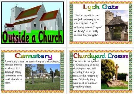 Free Printable Outside a Church Features
