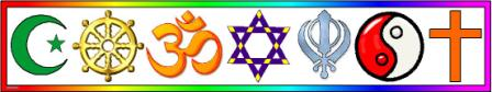Coexist World Religions Banner