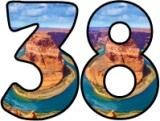 Free printable Instant Display digital lettering sets showing the Colorado River, running through the Grand Canyon.