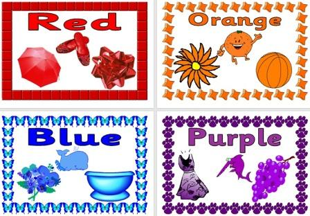Free Simple Colours Postes for Classroom Display