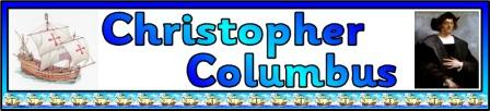 Free printable Christopher Columbus Banner