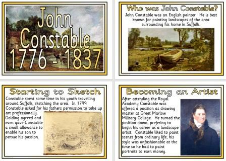 Free Printable John Constable Famous Artist Biography Posters