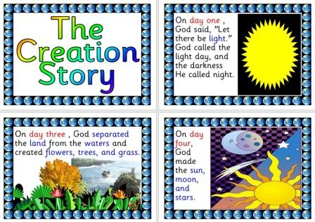 Free Printable Creation Story Posters for Display