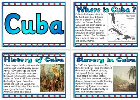 Free Geography Teaching Resouce Cuba Information Posters