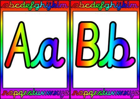 Free Printable Cursive Alphabet posters