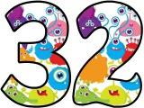 Cute Monsters numbers to print for classroom display