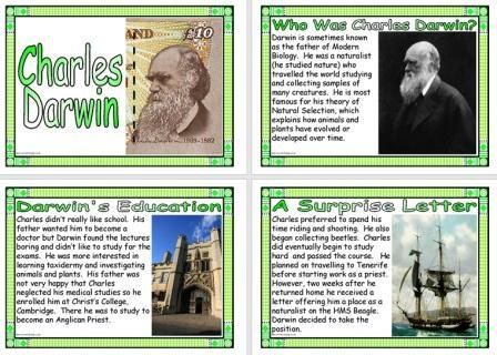 Charles Darwin Biography Posters