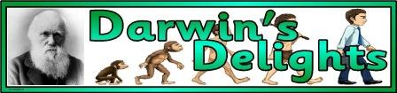 Free printable Darwin's Delights banner.
