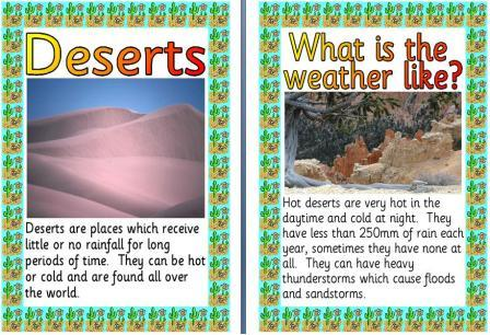 Free Printable Desert Climates Posters
