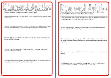 free diamond jubilee teaching resources posters printables worksheets banners royal. Black Bedroom Furniture Sets. Home Design Ideas